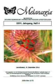 Melanargia Jahrgang 26 (4) Titel