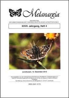 Melanargia 27 (4) - 15. Dezember 2015