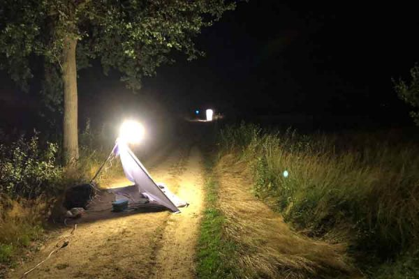 Lichtfang im Recker Moor (Foto: Frank Rosenbauer)